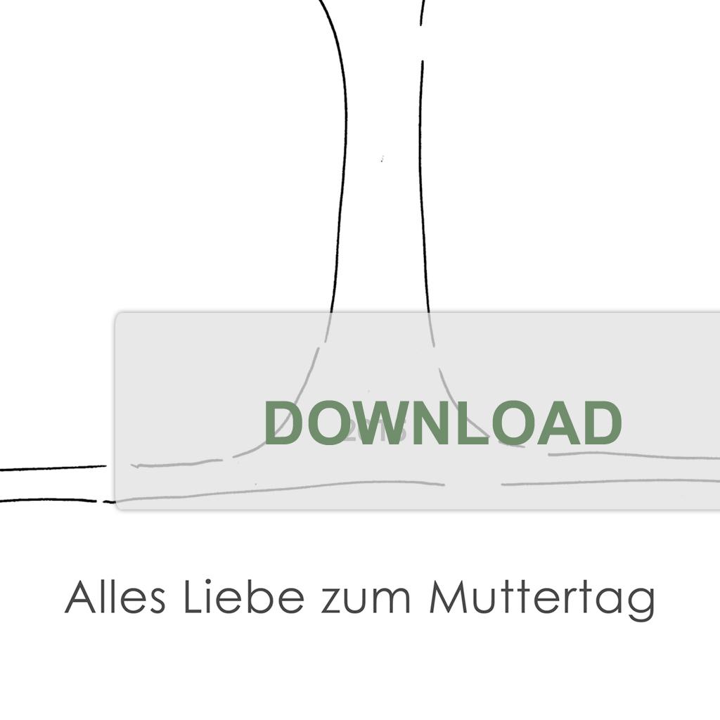 Printable Mothers Day German